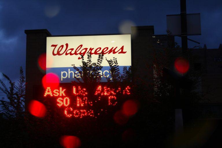 Walgreens pharmacy sign