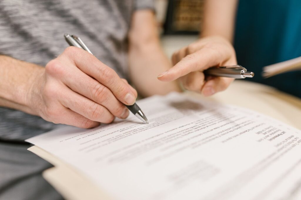 Checking documents using the pen